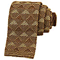 Brown Diamonds Silk Knitted Tie image