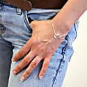 Halo Bracelet Silver & White Sapphires image