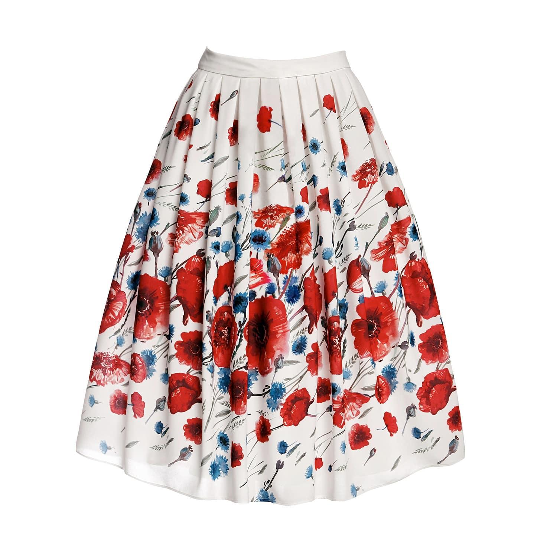 b800d1a5850b Poppy Floral Print Midi Skirt | Rumour London | Wolf & Badger