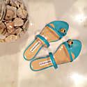 Felixa Turquoise Blue Leather Sandal image