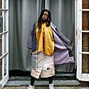 Dressy Textured Kimono Coat - Purple Wave image