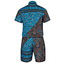 Kobby Men'S Bandana Print Shorts Jumpsuit image