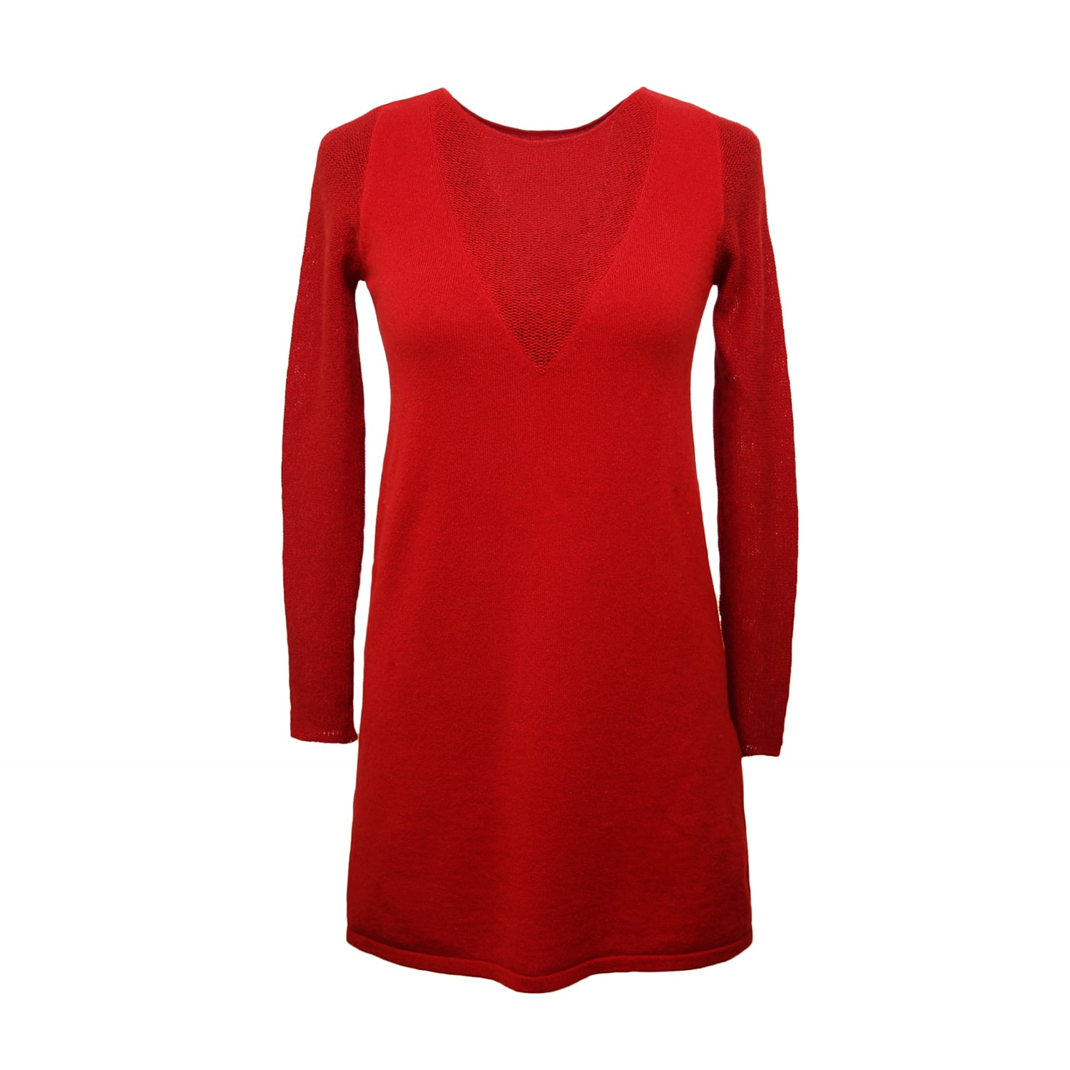 d8e2c6a688125f Cashmere Dress with Lacy Sleeves | Semon Cashmere | Wolf & Badger