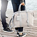 Nando Weekender Small - Grey Canvas & Grey Saffiano Leather image