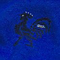 Made By Refugees Hand Embroidered Cashmere Scarf - Blue Rooster Motif image