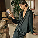 Pure Silk Gentle Pearl Pajama Set - Black image