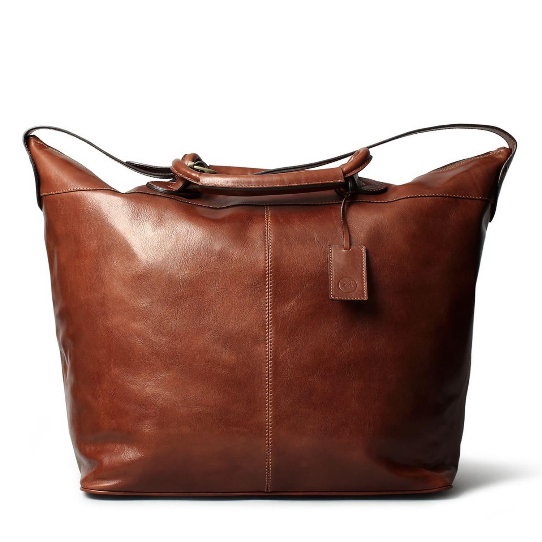 c9fc8b9351 Luxury Italian Leather Travel Duffle Bag Fabrizio Chestnut Tan ...