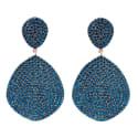 Monte Carlo Earring Rosegold Sapphire Zircon image