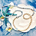 Round Freshwater Pearls With Aquamarines Multi-Way Necklace image