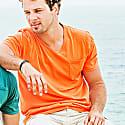 Mojito V-Neck T-Shirt in Orange image
