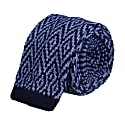 Jeans Blue Diamonds Wool Jacquard Knitted Tie image