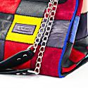 Zero-Waste Tote Bag In Multicolor Patchwork Suede image