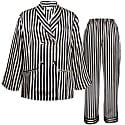 Striped Silk Long Pyjamas Set image