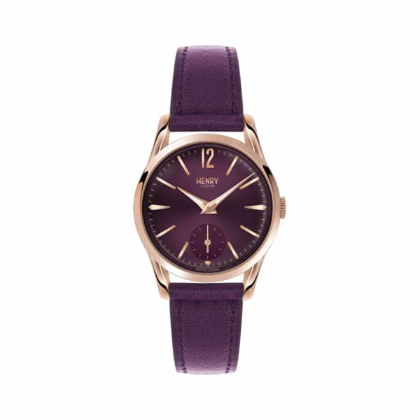 HENRY LONDON Ladies 30Mm Hampstead Leather Watch