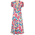 Millie Dress Tropical Silk Print Cream image