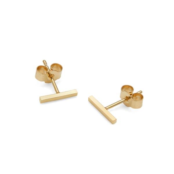 MYIA BONNER 9Ct Yellow Gold Bar Stud Earrings