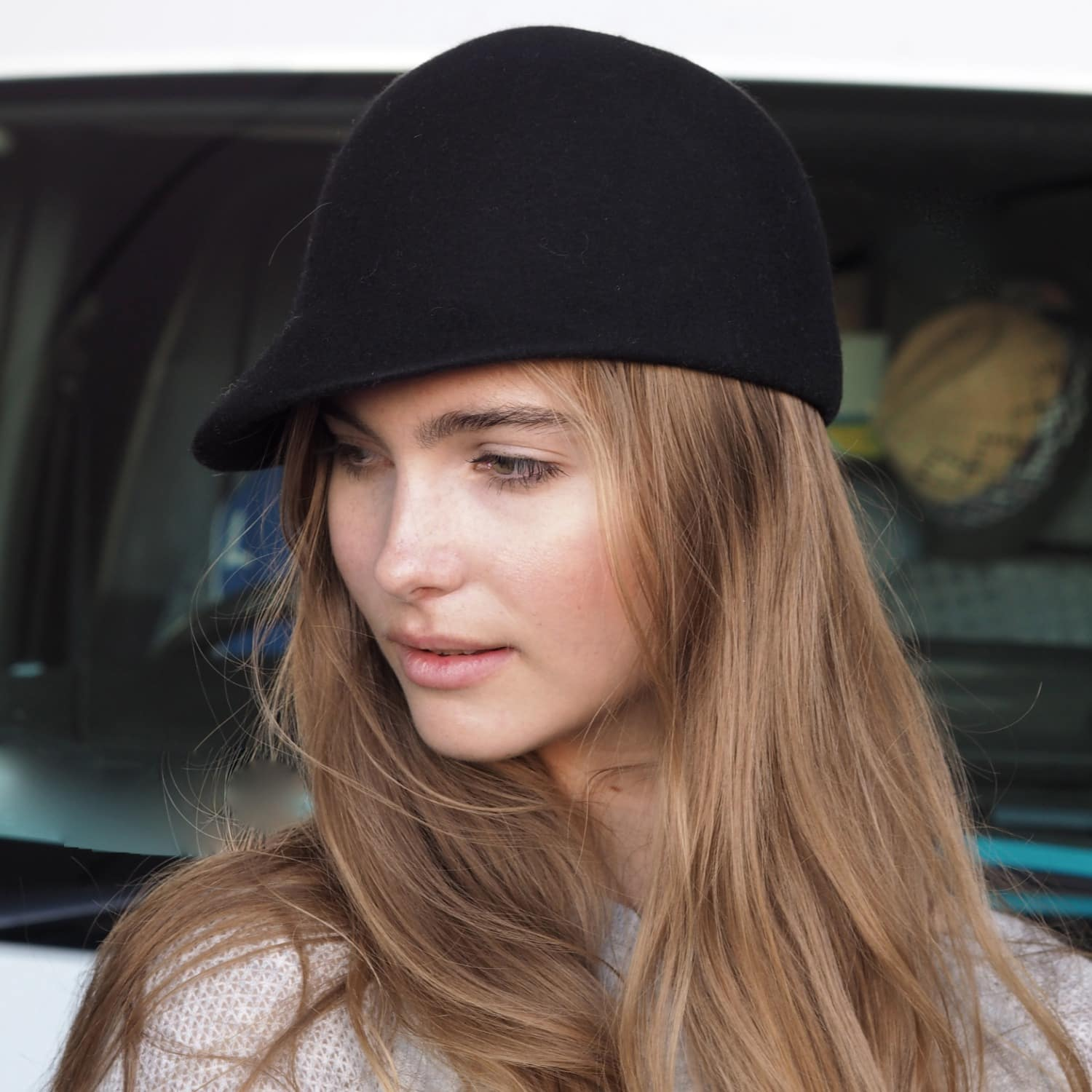 6456bfb6e Edie Plain Hat Black by Mu Du London