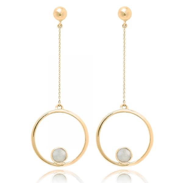 Aurelie Moonstone Earrings