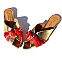 St. Petersburg - Gold Metallic Flat Sandals image