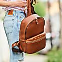 Luxe Tan Leather Backpack image