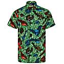 Men'S Short Sleeve African Print Shirt- Sea King image