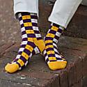 Gold Checkmate Men's Socks image