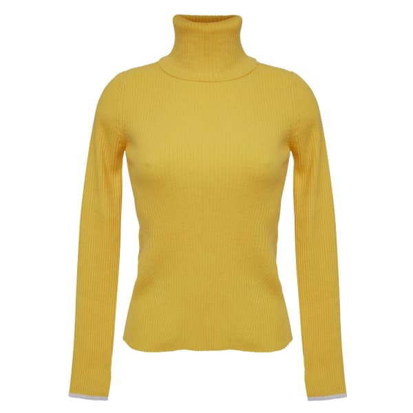 Eleven Six Edie T-neck Sweater - Canary In Orange