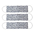 Pack Of 3 Reusable Protective Cloth Masks With Integrated Filter In Blue & White Print image