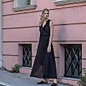 Doris Cotton Dress in Black image