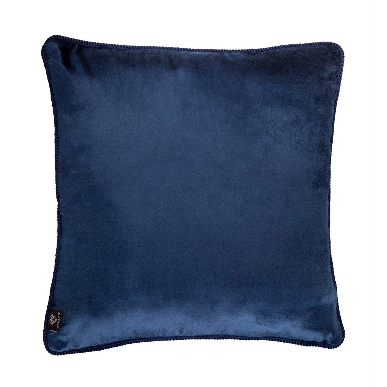 Navy Blue Velvet Cushion Bivain Wolf Amp Badger