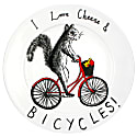 Cheese & Bicycles Plate image