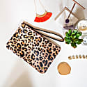 Classic Clutch Bag In Leopard Print Pony Fur image