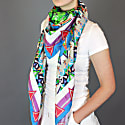Silk Scarf With Colorful Seasons image