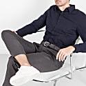 Braided Wool Belt Grey/Blue Federico image