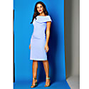Olympia Dress Sky Blue Crepe image