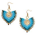 Statement Earring In Aqua image