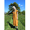 East Meets West Dress In Saffron 100% Irish Linen image