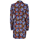 Jacqui African Print Blazer Dress - Tiger Lily image