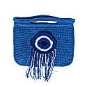Evil Eye Crochet Bag in Blue image