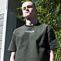 Demos Logo Embroidered Green Corduroy T Shirt Tee image