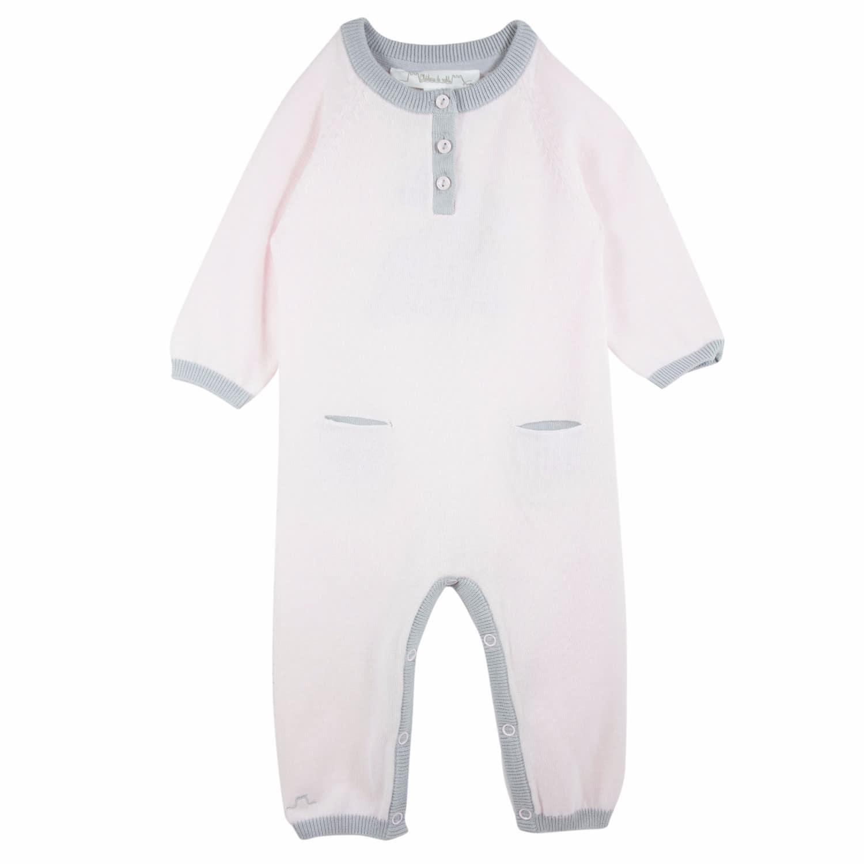 9053ef99f11 French Designer Lapin Baby Cotton Romper Pink image
