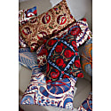 Taj Mahal Pomegranate Suzani Ikat Silk Heritage Design Cushion image