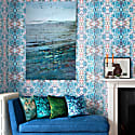 Blu Lava Velvet Cushion image