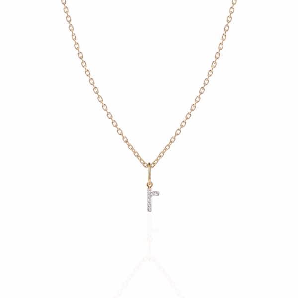 SHARON MILLS LONDON Monogram Mini Diamond Necklace R
