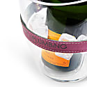 """Keep Your Cool"" Champagne Bucket - Purple Leather Strap image"