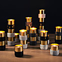Brass Candle Holders Gray Marble image