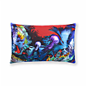 Blue Tropical Jungle Jellyfish Cushion image