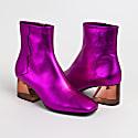 Galaxy - Fuchsia Metallic Mid Heel Boots image