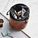 Luxe Tan Leather Drawstring Wash Bag image