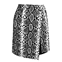 Vegan Leather Snakeskin Mini Skirt image